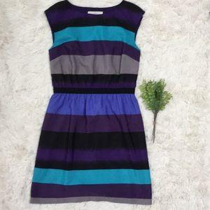 Loft Sleeveless Dress 💗 Purple Black & Turquoise